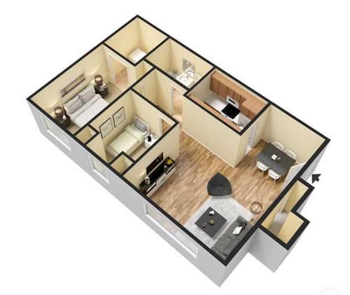 Woodridge Apartments: 1 And 2 Bedroom Layouts